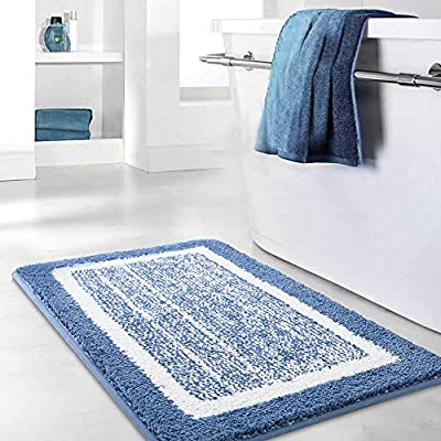 Bathroom Rug Mat, Ultra Soft and Water Absorbent Bath Rug, Bath Carpet, Machine Wash/Dry, for Tub, Shower, and Bath Room - (Ultra absorbent and soft)-All of our mat pads are constructed of premium microfiber materials, It can absorb 3 times of water in few seconds. (Anti-Slip design, more safety)-TPR bottom, strong Adhesion can help keep rugs in place on your floors and protect your family's safety. (Machine washable)-Machine washed and easy to dry, convenient, save time and energy. - bathroom-linens, bathroom, bath-mats - 51za2Zml3BL. SS400  -