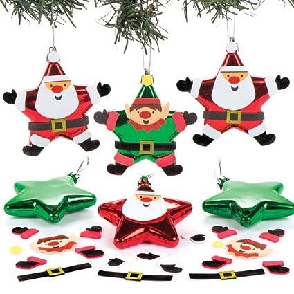 Manualidades Duendes De Navidad.Baker Ross Kits De Adornos De Papa Noel Y Duende En Forma De