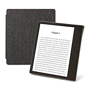 Kindle Oasis Water-Safe Fabric Standing Cover, Charcoal –9th generation (2017) release