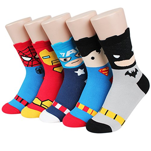Socksense Super Heros Series Women's Socks 5pairs(5color)=1pack Made in Korea