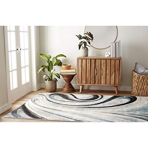 Home Dynamix Splash Odette Modern Area Rug, Abstract Gray/Blue 5'2