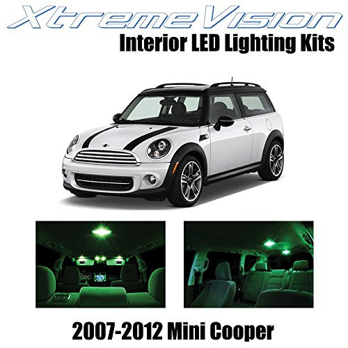 XtremeVision Interior LED for Mini Cooper 2007-2012 (10 Pieces) Green Interior LED Kit + Installation Tool - Mini Cooper Interior Kit