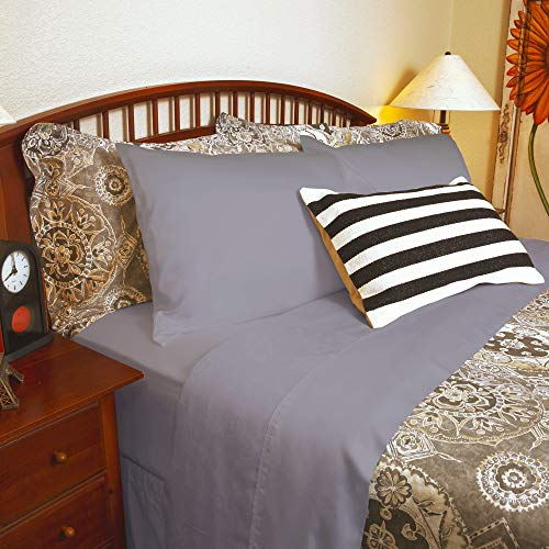 DTY Bedding Luxuriously Soft & Comfortable 4-Piece Tencel Lyocell Sheet Set, Made from 100% Eucalyptus Fiber, Hypoallergenic & Lightweight - King, Gray - Big Sale!! - Bedding Piece 4 Silk
