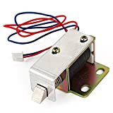 BQLZR Cabinet Door Electric Lock Assembly Solenoid DC 12V 0.6A TFS-A12 Square bevel latch