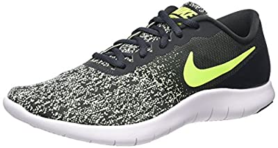NIKE Mens Flex Contact Running Shoe Anthracite/Volt-Barely Volt-White (14, Anthracite/Volt-Barely Volt-White)