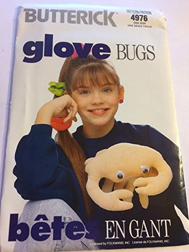 Bugs Puppet Glove (Butterick 4976 Sewing Pattern, Glove Bugs - Crab Puppet, One Size)
