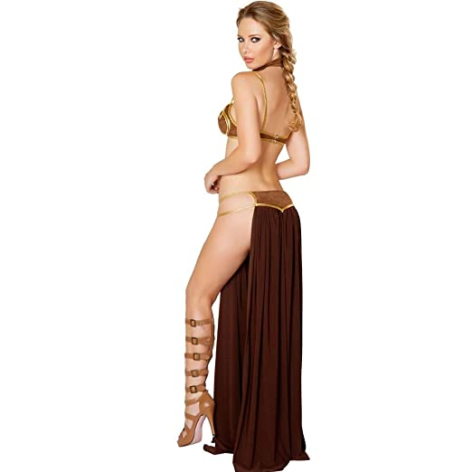 MSSJ Mujeres Adultas Sexy Star Wars Princesa Leia Slave Bra ...