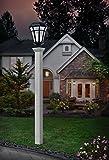 New England Arbors VA94436 Ez Mount 4'' x 4'' Lamp Post, White
