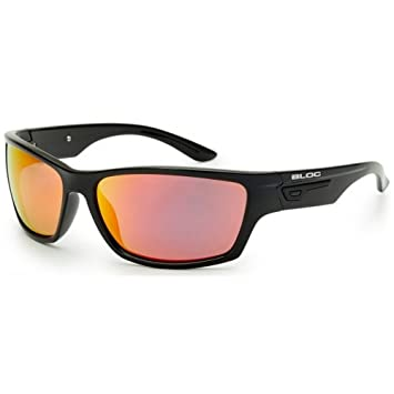 7a8df3c8f25 Bloc Bail Sunglasses Polished Black with Red Mirror Lens XR460   Amazon.co.uk  Sports   Outdoors