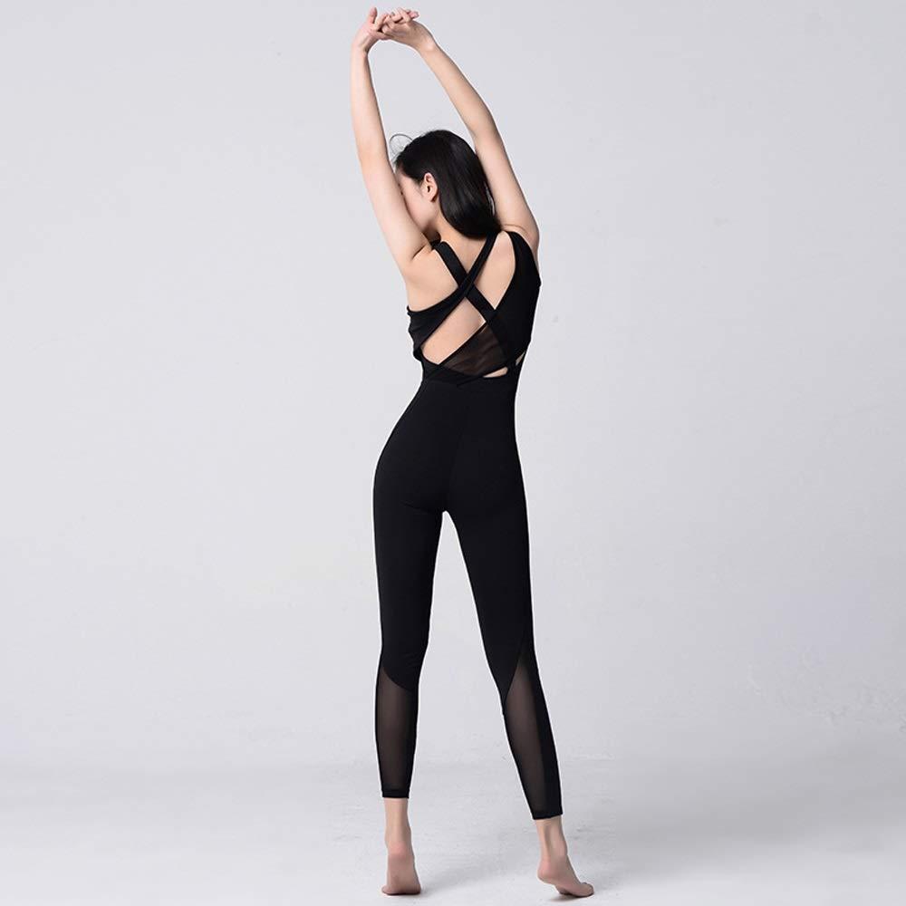 Amazon.com: Jian E-& Tight-Fitting - Mono de yoga de malla ...