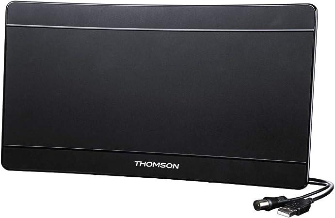 Thomson 00132185 ant1518bk de UHD/4 K DVB-T/T2 Habitaciones Antena Performance 45, Negro