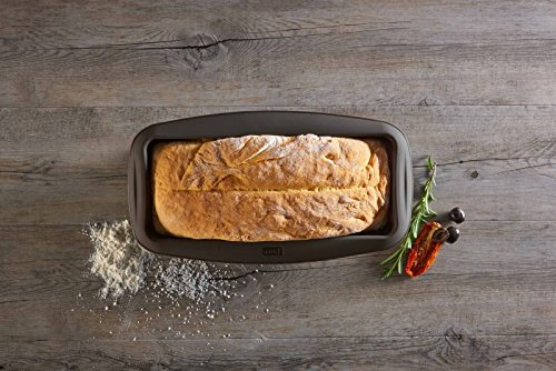 Lurch Germany flexiform silicone large loaf pan 11.8 inches, brown