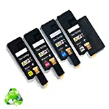 Dell E525W Toner 525 Cartridges Compatible Replacement High Yield Pages (4pk Set)