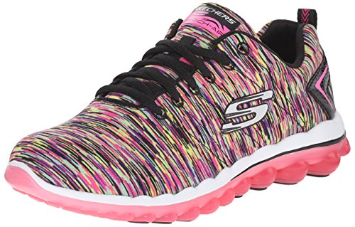 Skechers Sport Vrouwen Skech Lucht Run High Fashion Sneaker Zwart Hot Pink
