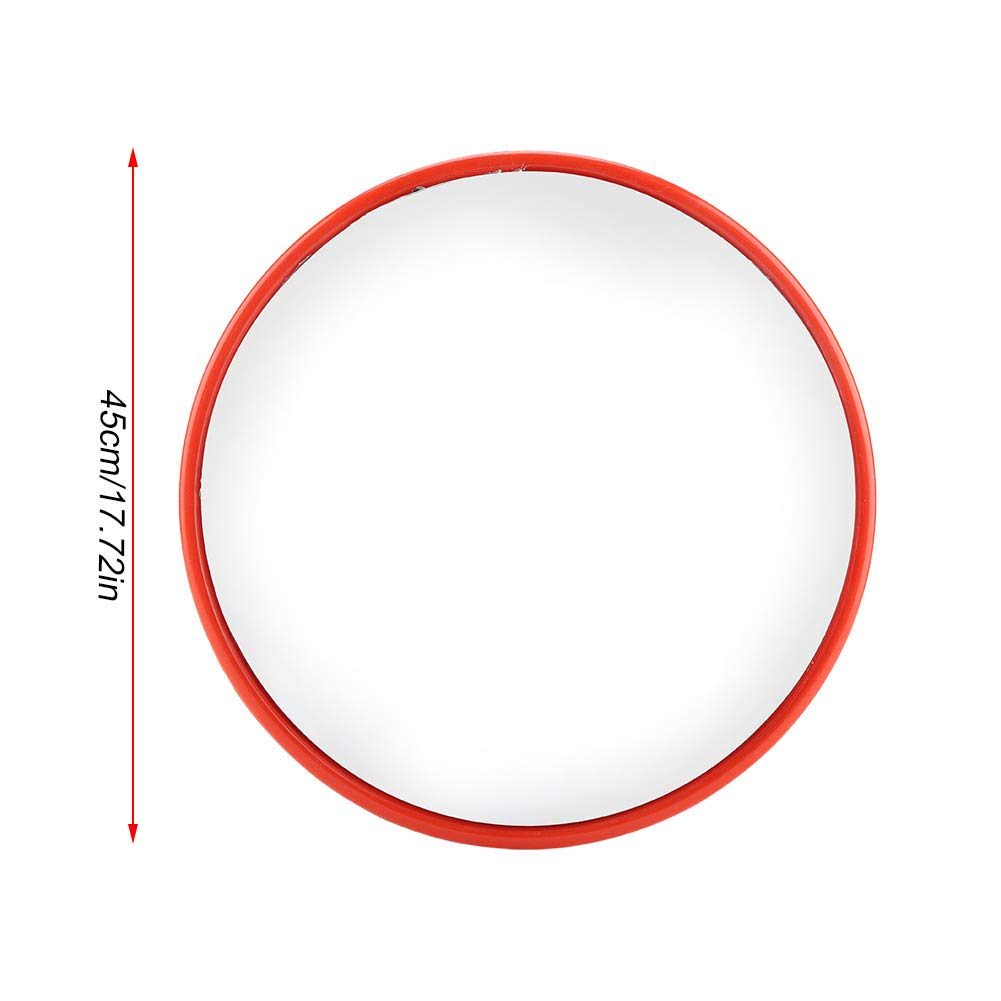 Convex Espejo de Carretera Forma Redonda Convexo de Seguridad en Carretera Gran Angular Naranja Espejo de tr/áfico con Accesorios de Montaje