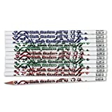 : Moon Products Dozen Decorated HB 2 Wood Pencil, Sixth Graders Are #1 (MPD7866B)