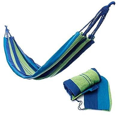 TENGGO Hamac Portable Voyage Plage Outdoor Camping Tissu Swing Lit