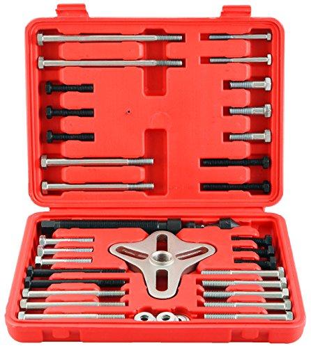 DASBET 46Pcs Harmonic Balancer Puller Set, Steering Wheel Puller, Gear Puller, Crank Shaft Pulley w/Case ()