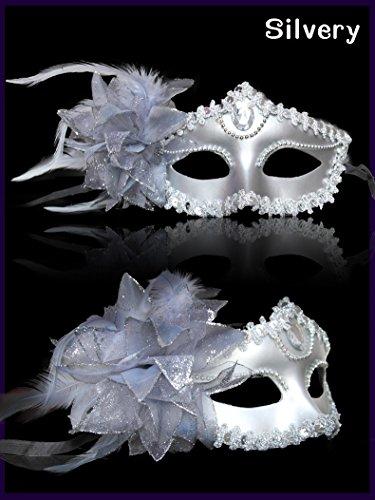 Máscara Venecia Metallic venizia Fasching Máscara Facial o decoración, dorado plata