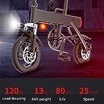 XINTONGLO-Adulti-Ciclomotore-Mini-Pieghevole-Bici-elettrica-Studente-in-Mobilit-elettrica-Ciclomotore-350W-Contour-Motore-velocit-25-kmHNero