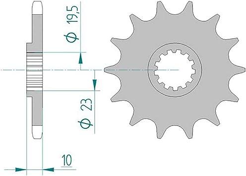 Kettensatz AFAM 520MR2-G passend f/ür SR 250 3Y8 1981-1983