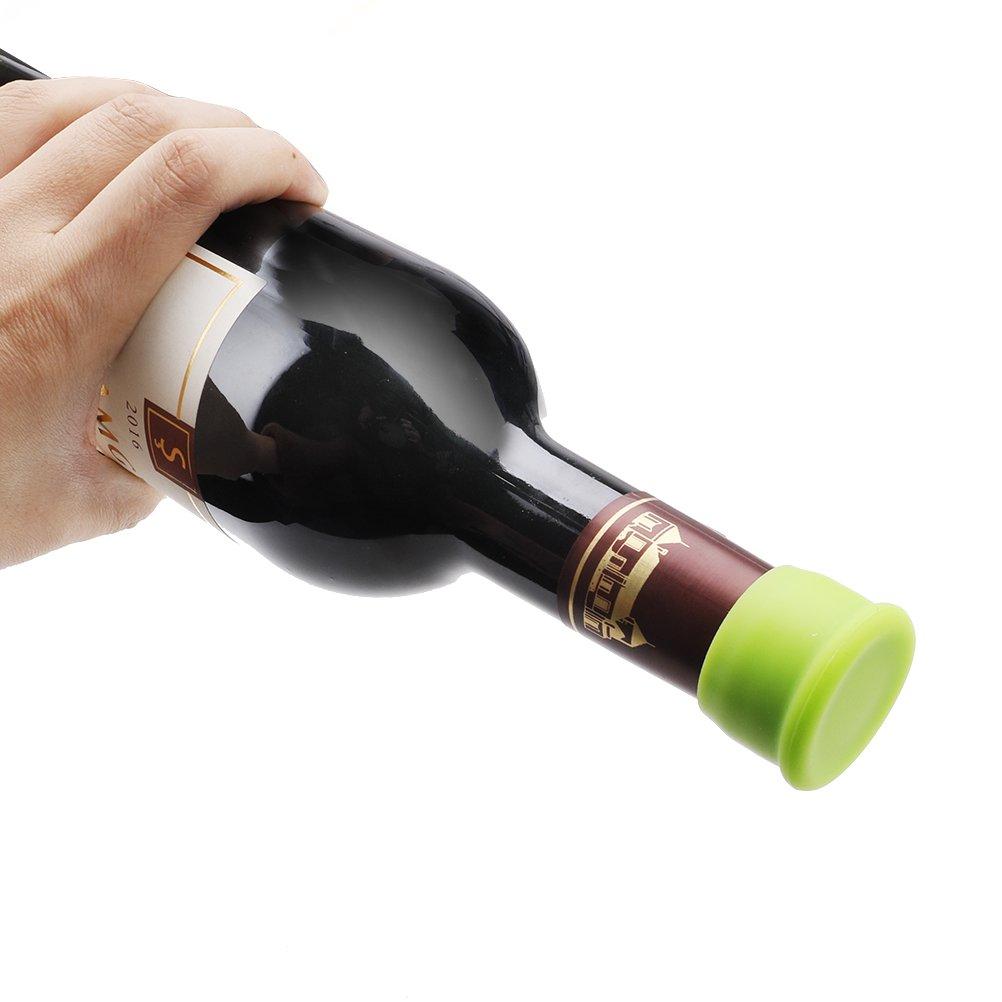 Vicloon Set de 5 Tapones para Botellas, Tapones de Vino Silicona, Tapa de Botella de Vino: Amazon.es: Bricolaje y herramientas