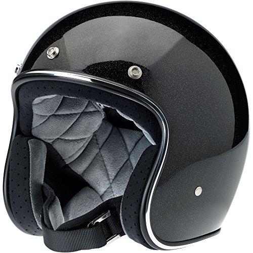 Biltwell Bonanza Helmet (Black/Gold, Large) (Mini Flake)