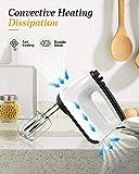 SUNDUO Hand Mixer Electric, 6-Speed 250W Egg