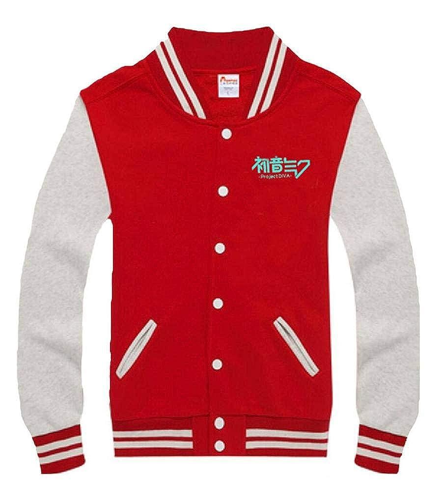 Gumstyle Hatsune Miku Anime Unisex Baseball Uniform Jacket Sport Coat