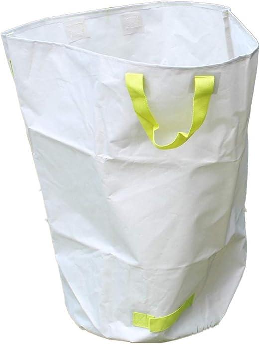 JIAYUAN sombra Solar- Jardín bolsa, bolsas de desechos, juego de 3, hoja Bolsas, reutilizable desechos de jardinería bolsas, contenedores hoja plegable con pop-up de primavera, botes de basura de lona: Amazon.es: Hogar