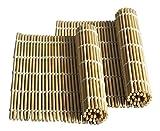 Happy Sales HSSM-NAT01, Bamboo Sushi Natural 2 pc Mats