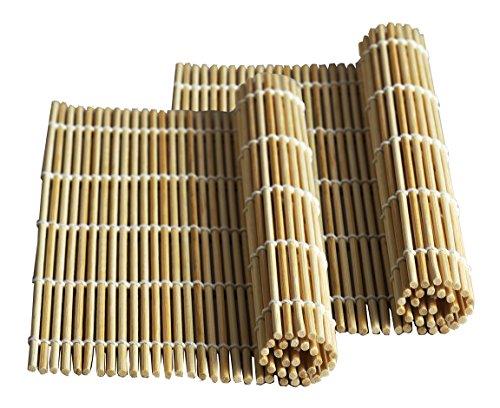 Bamboo Mat (Happy Sales HSSM-NAT01, Bamboo Sushi Natural 2 pc)