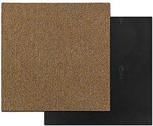 beige Meisterei Floordirekt Design Teppichfliesen Moskau 50x50 cm selbstliegend strapazierf/ähiger Teppich Bodenbelag mit hochwertigem Schlingenflor antistatisch mit Bitumen R/ücken