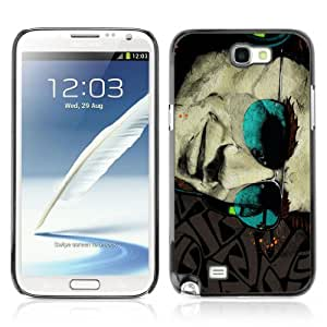 Designer Depo Hard Protection Case for Samsung Galaxy Note 2 N7100 / Cool Sunglasses tattoo Art