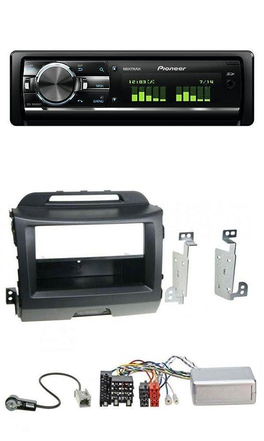 Pioneer deh-x9600bt MP3 Bluetooth USB SD CD Radio de coche para Kia Sportage 3 (a partir de 10) Negro: Amazon.es: Electrónica