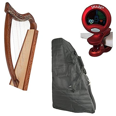 Roosebeck Pixie Harp 19-String Non-Standing Deluxe Package w/Gig Bag, and Tuner (The Pixies Deluxe)