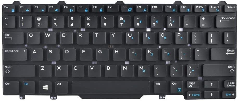 New Laptop Keyboard for DELL Latitude E5450 E5470 E7450 E7470 US Layout with Backlit Keyboard