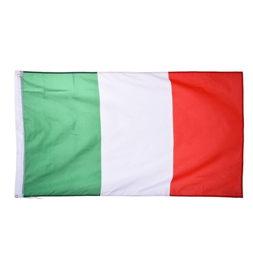 TRIXES Bandera de Italia - 90 x 150 cm - con Anillos - Bandera Colgante para Eventos Deportivos Campeonato - para Copa Mundial y Euro