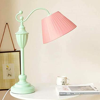 Amazon.com: Table Lamps Fashion Wrought Iron Girl Bedroom ...