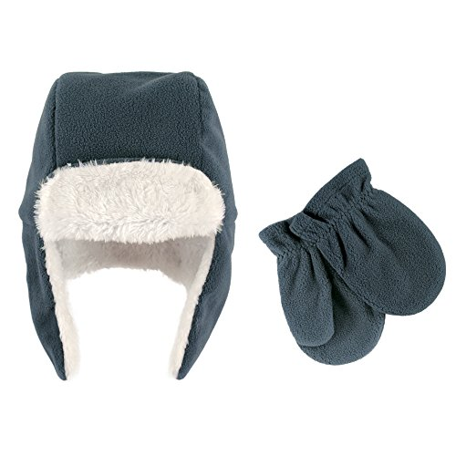 Hudson Baby Girls' Fleece Trapper Hat and Mitten Set,