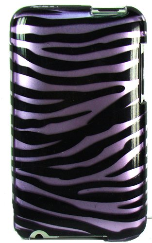 Vangoddy Apple iPod Touch 2nd and 3rd Generation Design Protector Case, Purple Zebra (VGiPod23ZPUP)