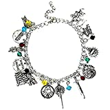 Superheroes Game of Thrones 12 Charms Lobster Clasp Jewelry Bracelet in Gift Box by (Movie TV Inspired Novelty Jewelry Collection)