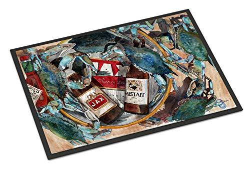 Caroline's Treasures 8919JMAT New Orleans Beers and Crabs Indoor or Outdoor Mat, 24 x 36, Multicolor