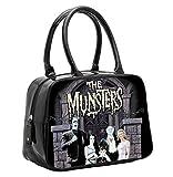 Rock Rebel The Munsters TV Family Lily Herman Eddie Monsters Punk Black Purse