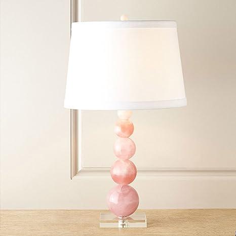 E27 escritorio lámpara cristal rosa Salón Lámpara de mesa ...