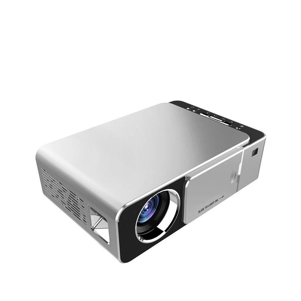 プロジェクター、ホーム3Dポータブルミニビデオプロジェクター、大画面ディスプレイ、健康アイプロテクション、多機能、HD、LED、1080P、エンターテイメント、ゲーム   B07SYKLKRN