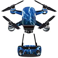 Skin for DJI Spark Mini Drone Combo - Lightning Storm| MightySkins Protective, Durable, and Unique Vinyl Decal wrap cover | Easy To Apply, Remove, and Change Styles | Made in the USA