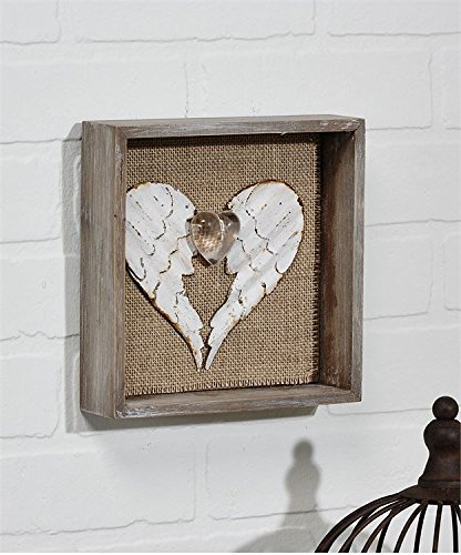 Angel Wings In Shape of Heart Shadow Box For Sale