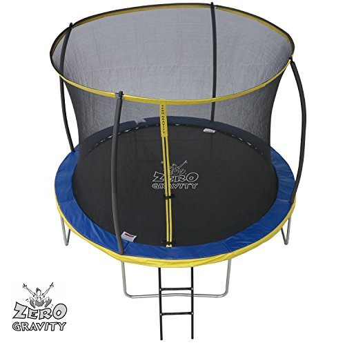 10ft-Zero-Gravity-Ultima-4-High-Spec-Trampoline-with-Safety-Enclosure-Netting-and-Ladder-by-Zero-Gravity-Trampolines