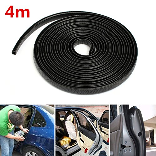 Black Trim Hollow Rubber Seal Strip Scratch Protector Guard For Car Boat (Moulding Sedan)